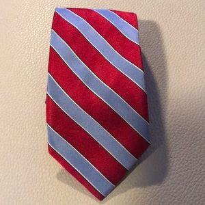 Tommy Hilfiger Red,Blue Striped Tie Silk Tie